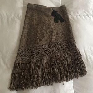 BCBG fringe skirt